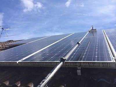 Solar panel cleaning in Rutland and Grantham